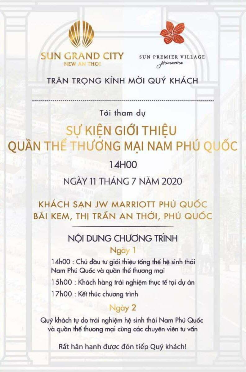 Su kien mo ban Sun Group Phu Quoc